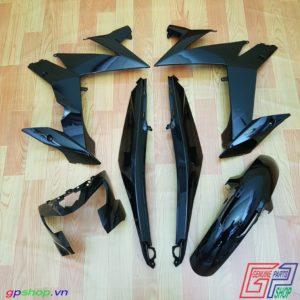 Dàn áo Satria F150 Fi đen bóng - Dàn áo Raider R150 Fi đen bóng