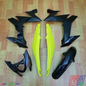 Dàn áo Satria F150 Fi vàng đen - Dàn áo Raider R150 Fi vàng đen