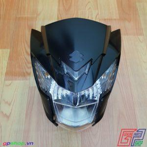 Đầu đèn Satria F150 Fi đen bóng