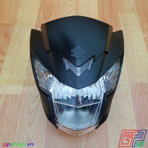 Đầu đèn Satria F150 Fi nhám đen - Đầu đèn Raider R150 Fi đen nhám