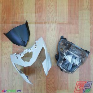 Đầu đèn Satria F150 Fi trắng