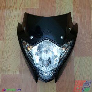 Đầu đèn Satria F150 Fu nhựa đen chóa trắng