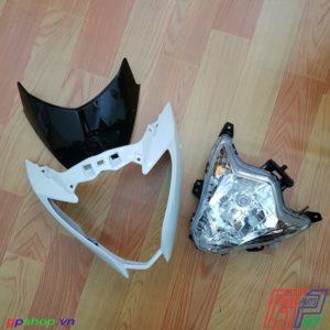 Đầu đèn Satria F150 Fu nhựa trắng chóa trắng