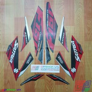 Tem Satria F150 Fi 2017 đỏ đen