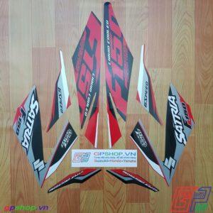 Tem Satria F150 Fi 2017 đỏ