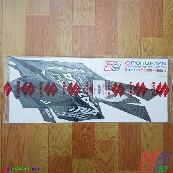 Tem Satria F150 Fi 2018 đen bạc