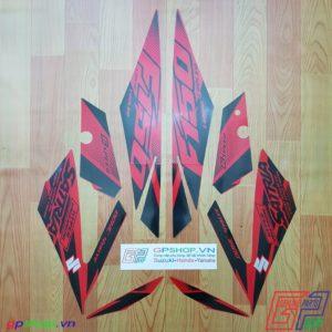 Tem Satria F150 Fi 2018 đỏ