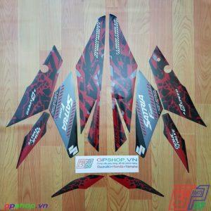 Tem Satria F150 Fi 2019 đỏ đen