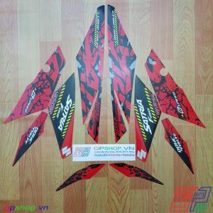 Tem Satria F150 Fi 2019 đỏ