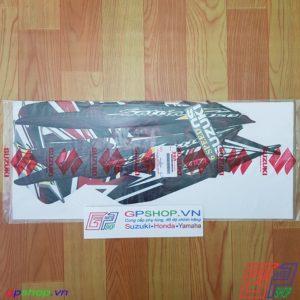Tem Satria F150 Fu 2011 đỏ đen - Tem cô gái