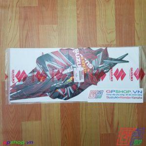 Tem Satria F150 Fu 2011 đỏ - Tem cô gái