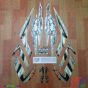 Tem Satria F150 Fu 2011 trắng đồng - Tem cô gái