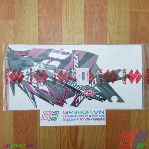 Tem Satria F150 Fu 2012 hồng đen