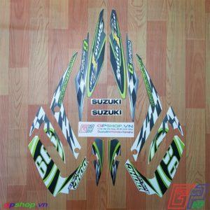 Tem Satria F150 Fu 2012 xanh kawa