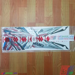 Tem Satria F150 Fu 2013 đỏ xám