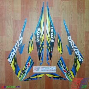 Tem Satria F150 Fu 2013 xanh gp