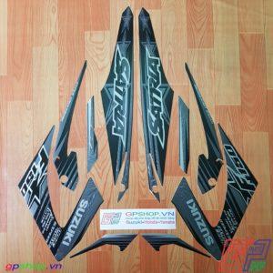 Tem Satria F150 Fu 2014 đen bạc
