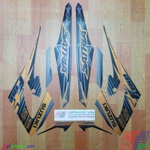 Tem Satria F150 Fu 2014 đen đồng
