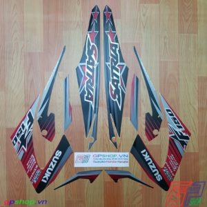 Tem Satria F150 Fu 2014 đỏ đen