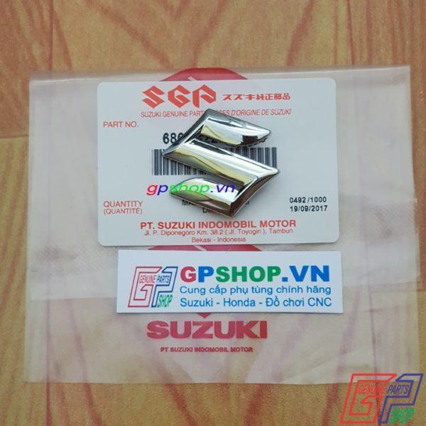 Chữ S chắn gió Satria F150 Fu, Chữ S chắn gió Raider R150 Fu, Logo chữ S chắn gió chính hãng Suzuki Indo | GPSHOP.VN - 0919778081