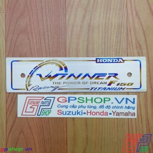 Biển tên chữ WINNER bằng titan. Biên tên titan chữ Winner được làm từ chất liệu titan. Gia công khác chữ và lên màu | GPSHOP.VN - 0919778081