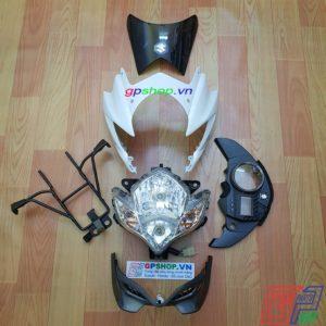 Đầu đèn Satria 150 mắt phượng trắng xám, đầu đèn Satria 150 2012 trắng xám, đầu đèn lớn mắt phượng. Đầu đèn belang | GPSHOP.VN - 0919778081