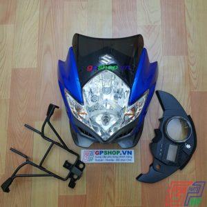 Đầu đèn Satria 150 mắt phượng xanh xám, đầu đèn Satria 150 xanh gp, đầu đèn lớn mắt phượng. Đầu đèn Belang 150 | GPSHOP.VN - 0919778081