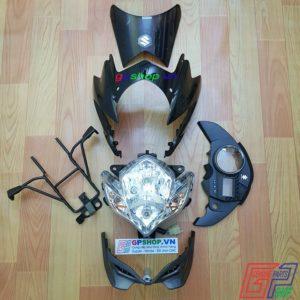 Đầu đèn Satria 150 mắt phượng đen xám, đầu đèn Satria 150 đen xám, đầu đèn lớn mắt phượng. Đầu đèn Belang 150 | GPSHOP.VN - 0919778081