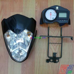 Đầu đèn Satria 2006 - Đầu đèn K6 4 món. Bộ đầu đèn Satria 2006 4 món có full đồng hồ Satria 2006 chính hãng | GPSHOP.VN - 0919778081