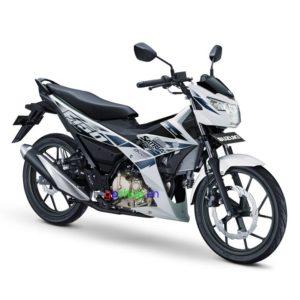 Satria F150 Fi 2018 trắng đen