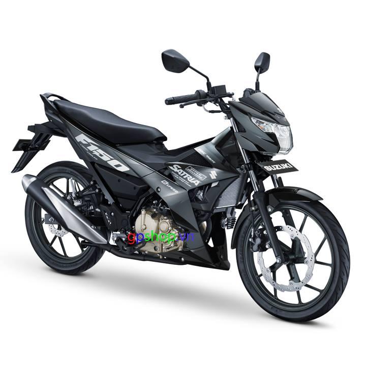 Satria F150 Fi 2018 đen bạc